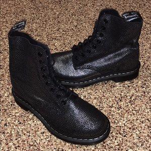 Dr. Marten Airwair Pascal Black Silver Boots 6US